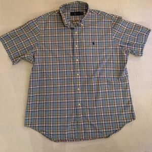 Ralph Lauren Blue Plaid Button Down XL